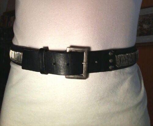 Dries Van Noten women's safety pin black leather b