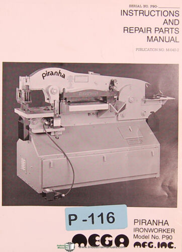 Ironworker Instructions and Spare Parts Manual Piranha P90