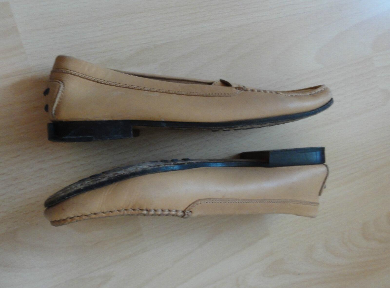 Tod's Leder Schuhe, Ballerinas, Gr. 37 in - Beige - in top 96c410