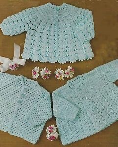 Baby-Crochet-Pattern-Three-Matinee-Jackets-18-22-034-4ply-281
