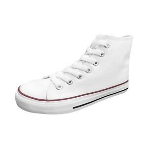 Ish-Original-Men-White-Blank-High-Top-Red-Black-Rubber-Sole-Canvas-Sneakers