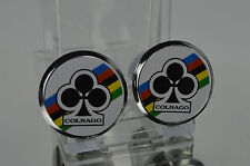 NOS COLNAGO club Handlebar End Plugs, Bar End Caps, endcaps vintage white new