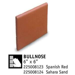 Quarry Baseboard Tile Red Coral And Dune 6 X 6 Bullnose