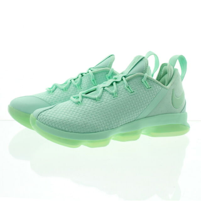 10bf1705050c Nike Lebron 14 Low Size 8.5 Mens Basketball Shoes MINT Foam Green ...