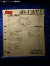 Sony Service Manual MPK TRH / TRS Handycam Marine Pack (#1534)