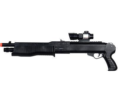 NEW SPRING AIRSOFT PUMP SHOTGUN PISTOL HAND GUN w/ LASER FLASHLIGHT SCOPE BB