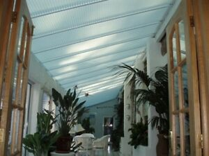 Pleated Roof Lean To Conservatory White Cream Blinds Ebay