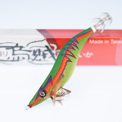 Details about  /RUI SQUID JIG KR37 BLACK BROTHER GOLD BELLYSIZE 3 EGI FISHING LURE