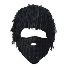 9c3d7320f11ca Unisex Adults Face Mask Hats Braided Beard Beanie Knit Hat