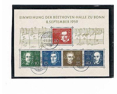 Ausdrucksvoll Bund Block 2 Mit Ersttag Tagesstempel Dillenburg 8.9.1959 Hitze Und Durst Lindern.