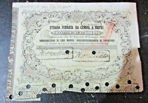 OBBLIGAZIONE-STRADA-FERRATA-DA-GENOVA-A-VOLTRI-19-1-1857
