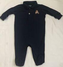 New Baby Boys Ralph Lauren Long Sleeves Body Suit//Romper 3M