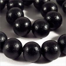 Lot de 50 perles rondes en Bois 10mm Noir Haute Qualité!
