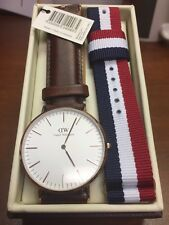 Daniel Wellington St Andrews Rose Gold Mens Watch With Brown + Cambridge bands