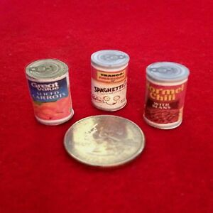 1:6 scale Handmade mini - Barbie doll - Canned food #5 (filled for stability)