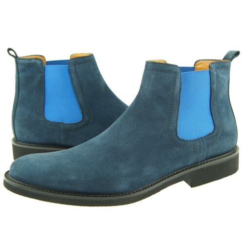 Blue 7-13US Men/'s Ankle Boots Charles Stone Suede Chelsea