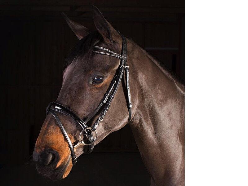 ELEGANT COMFORT imbottita morbida pelle Briglia Ponygranturcocomplete NeroMarronee GRATIS P&P