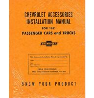 1951 Chevy Truck Accessory Installation Manual