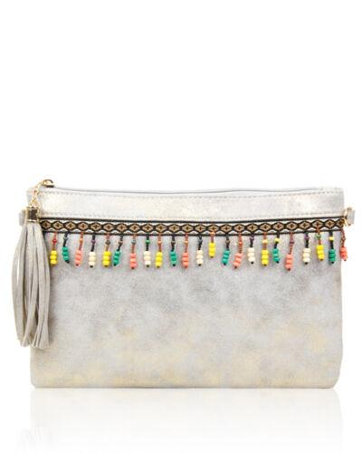 New Women/'s Traditional Style Clutch Handbag//Ladies Fashion Beaded Crossbody Bag
