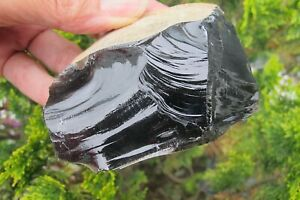 Obsidian-crystal-Black-lava-Glass-Natural-piece-protection-Mexico-chunk-162-4g