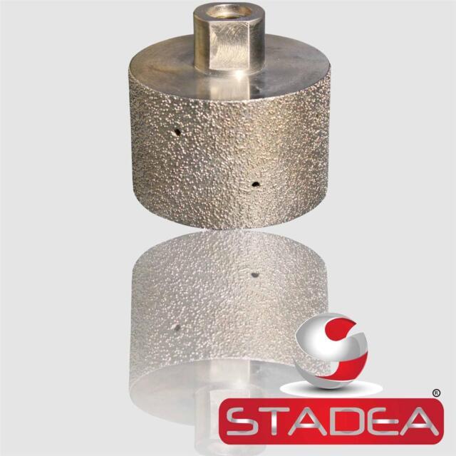 "RAIZI 2/"" Dry Dimond Polishing Drum Wheel For Granite Marble Stone Concrete Sink"