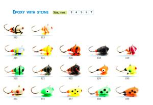 "#8224 2pcs Japanese hooks Tungsten ICE FISHING /""SHARK/"" MADE Jig Heads"
