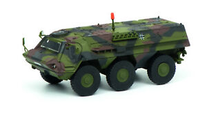 Schuco 452635800 Fuchs Transportpanzer Bundeswehr getarnt HO 1:87 NEU