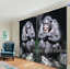 3D Orangutan Blockout Photo Curtain Printing Curtains Drapes Fabric Window AU