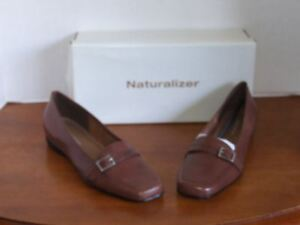 Naturalizer-Opal-Coffee-Bean-Brown-Loafer-Dress-Shoes-Size-7