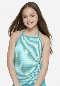 Justice Girl/'s Size 10 Pineapple Graphic Glitter Top New