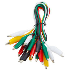 Wgge Wg 026 10 Pieces And 5 Colors Test Lead Set Amp Alligator Clips 205 Inches