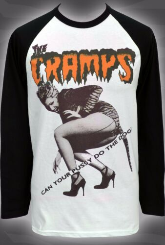 POISON S-2XL MENS BASEBALL LONG SLEEVE T-SHIRT CRAMPS CAN YOUR PUSSY DO THE DOG