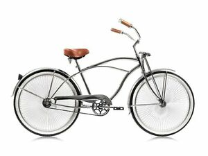 Micargi-Cougar-GTS-Chrome-Men-039-s-26-034-Beach-Cruiser-Bike-Limited-Edition-NEW