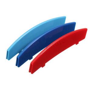 Kidney-Grille-M-Sport-Grill-3-Colour-Cover-Stripe-Clip-For-BMW-5-Series-E60-E61