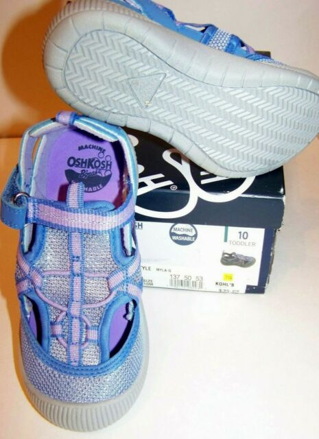 Oshkosh B'gosh Machine Washable Girls Myla-G Shoes Periwinkle Choose Size NIB