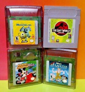 Disney Atlantis Monsters Inc Mickey Jurassic 4 Games Nintendo Game Boy Color