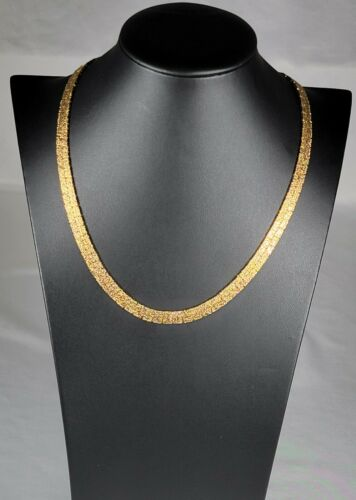 Two Tone Gold (Imitation) Necklace. Double Sided..