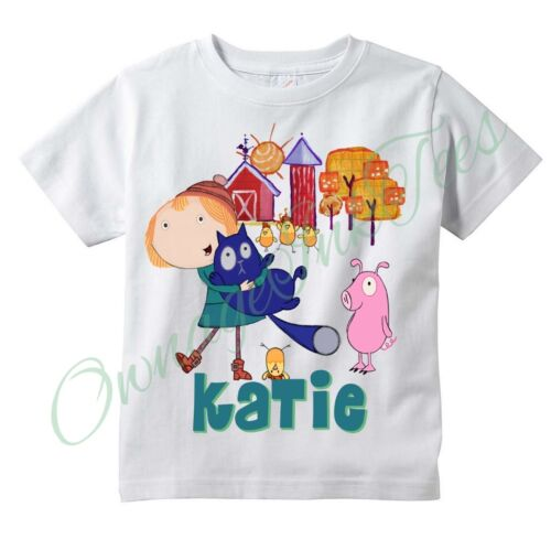 Add NAME Birthday Tee PEG and CAT Custom t-shirt PERSONALIZE