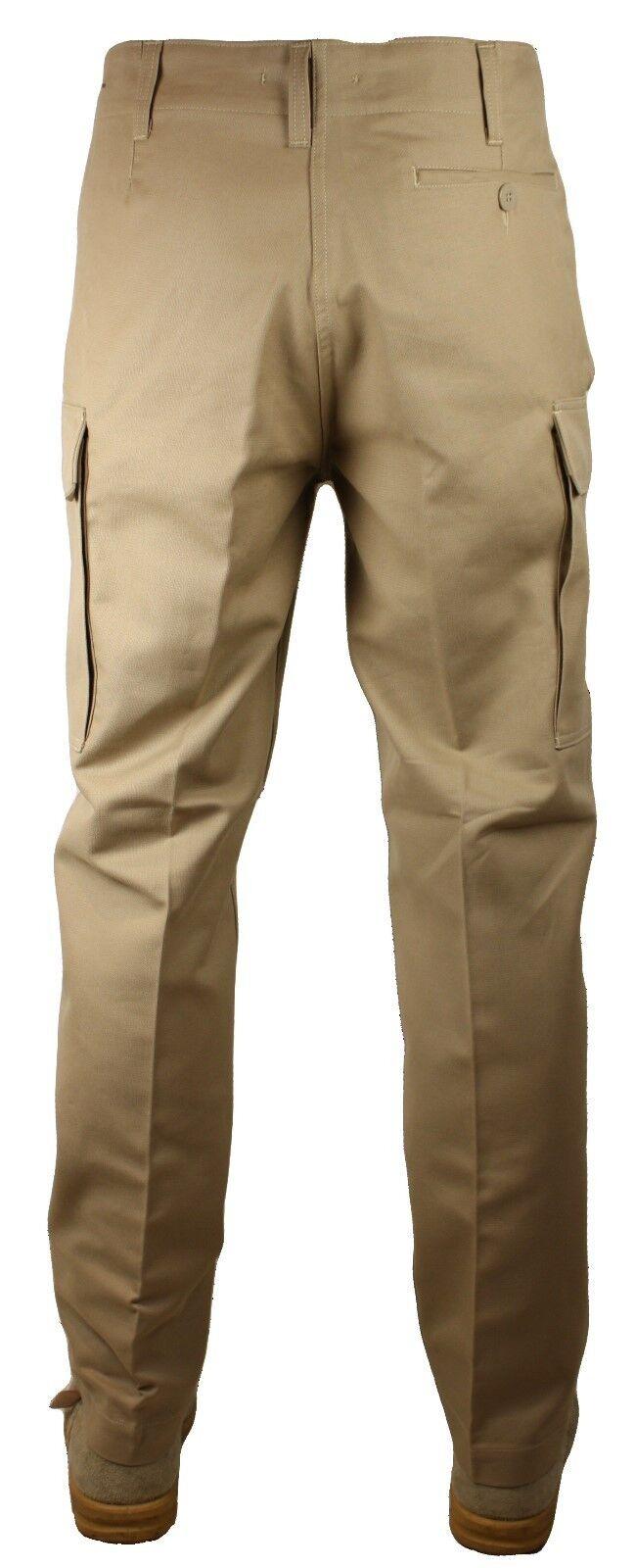 NUOVO Tan Esercito Esercito Esercito Tedesco Pelle di Talpa Pantaloni, Qualità Originale 638b73