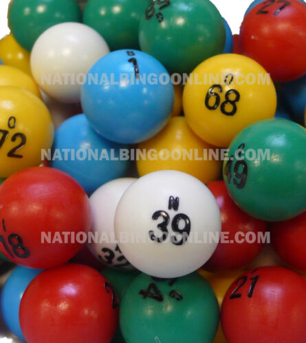 Multi-color Small Bingo Ball Set