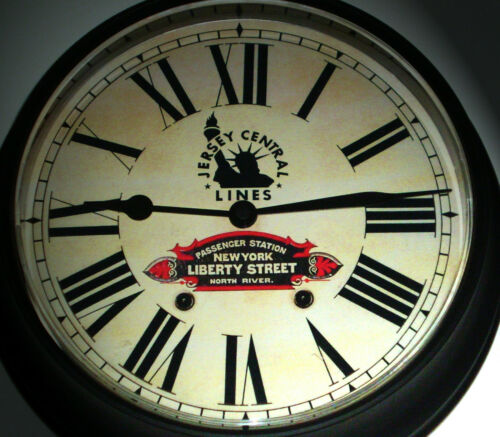 New York Liberty Street Station Waiting Room Clock 1940s Jersey Central Lines