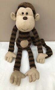 Jellycat-Maximillian-Monkey-Brown-Stripe-Soft-Toy-Comforter-Soother-Rare-Retired