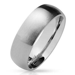 Ring-klassisch-matt-Silber-aus-Edelstahl-Unisex-Damen-Herren-Schwarz-Ringe-Gold