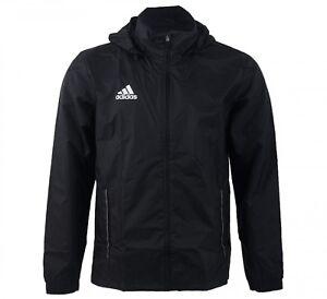 a5d427a63 NEW MEN'S SPORTS RAIN JACKET FOOTBALL SOCCER ADIDAS CORE BLACK SIZE ...
