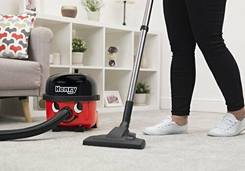 Henry Bagged Cylinder Vacuum (HVR 160-11), 620 W, 6 L Capacity, Red & Black