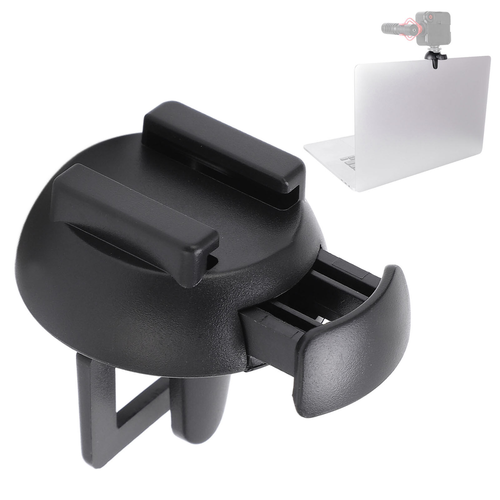 1X Laptop Notebook Clip Fill Light Holder with Cold Shoe Mount for Live Video