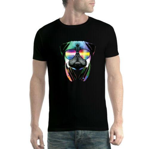 Dj Pug Headphones Animal Funny Men T-shirt XS-5XL New