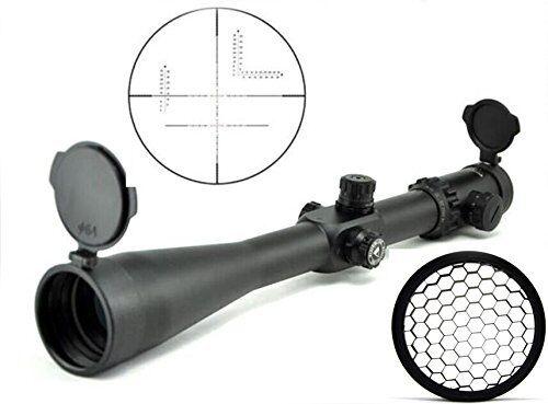 Mira para rifle caza Visionking 10-40x56 35 retícula militar & sombrilla de nido de abeja