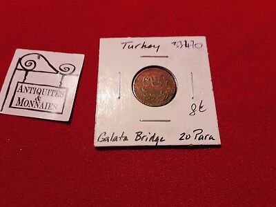 Earnest Turkey Coin 20 Para Galata Bridge Ref33470 Elegant And Sturdy Package