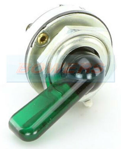 DURITE 0-484-00 3 POSITION GREEN ILLUMINATED ROTARY CLASSIC CAR INDICATOR SWITCH